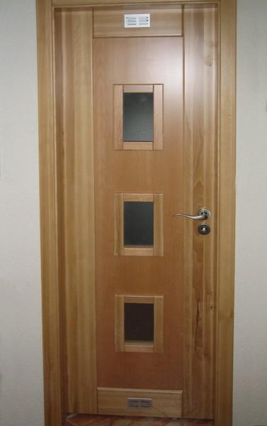 dveře interiérové - buk přírodní - kombinace - masiv - dýha