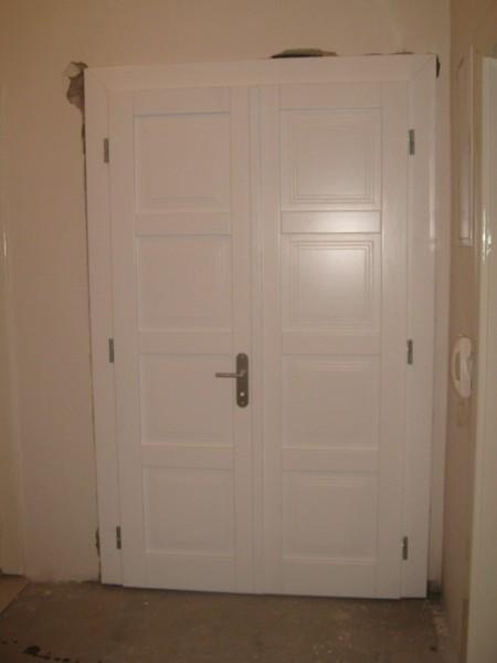 dveře interiérové bílé - smrk - masiv