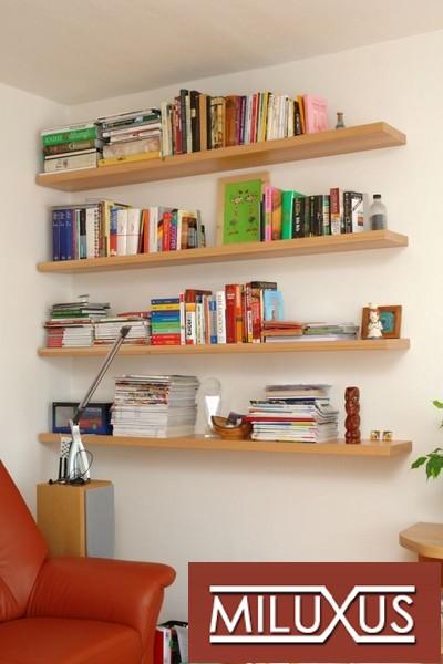 obývací pokoj - buk přírodní - police masiv