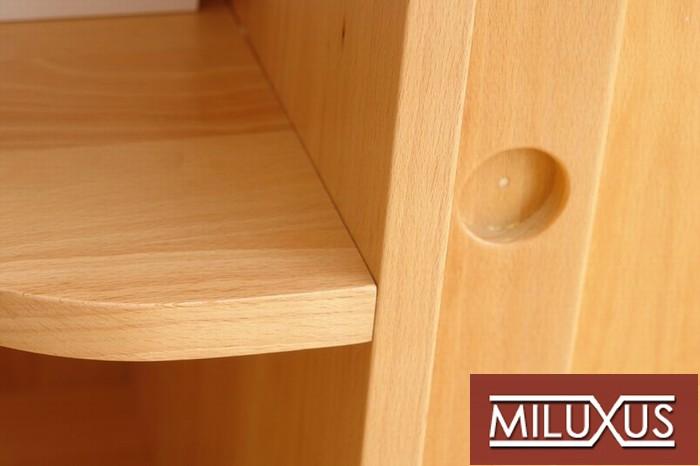 obývací pokoj - buk přírodní, kombinace masiv a dýha