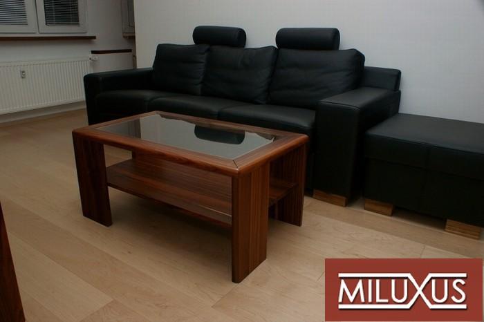 konferenční stolek - palisandr santos dýha