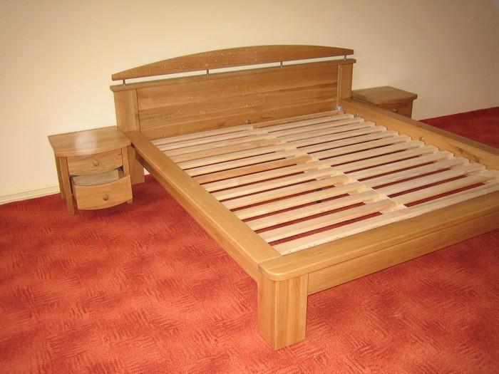 postel dub přírodní - masiv