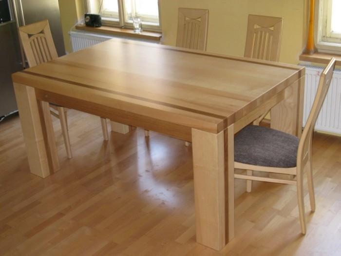 stůl  jasan - kombinace dub - masiv