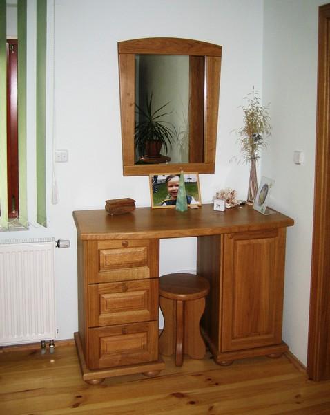toaletní stůl - dub přírodní - masiv