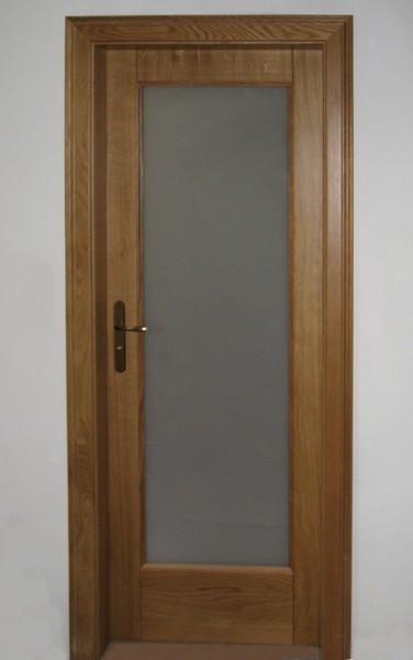 dveře - jasan přírodní -  kombinace mléčný konex - masiv